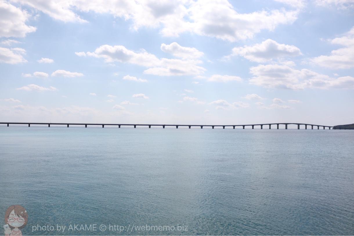 与那覇前浜から見た来間大橋