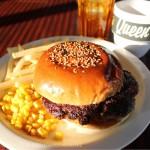 [Å] 福生バーガー 16号線沿い「デモデダイナー」のハンバーガーがジューシーすぎて凄い!