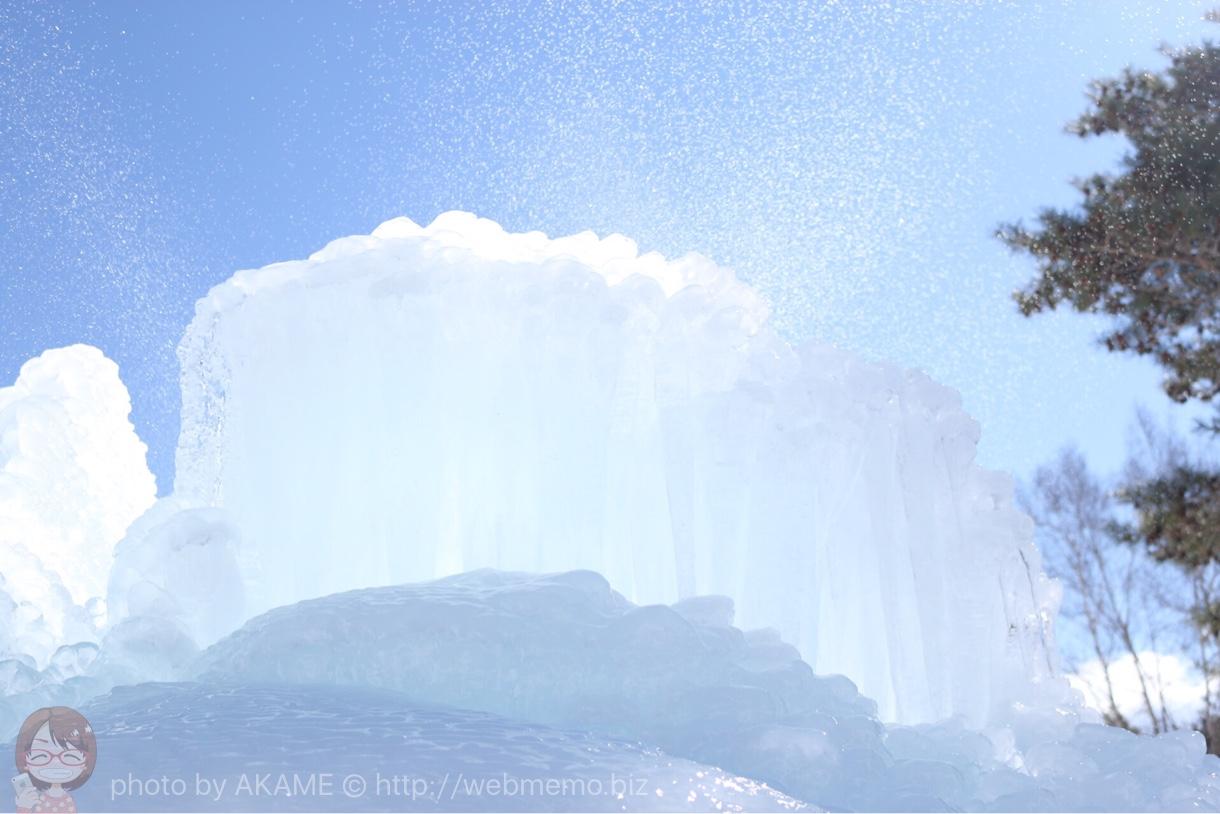 樹氷を作っている瞬間