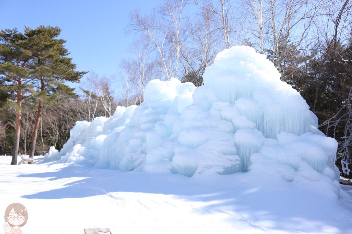 壁のような樹氷