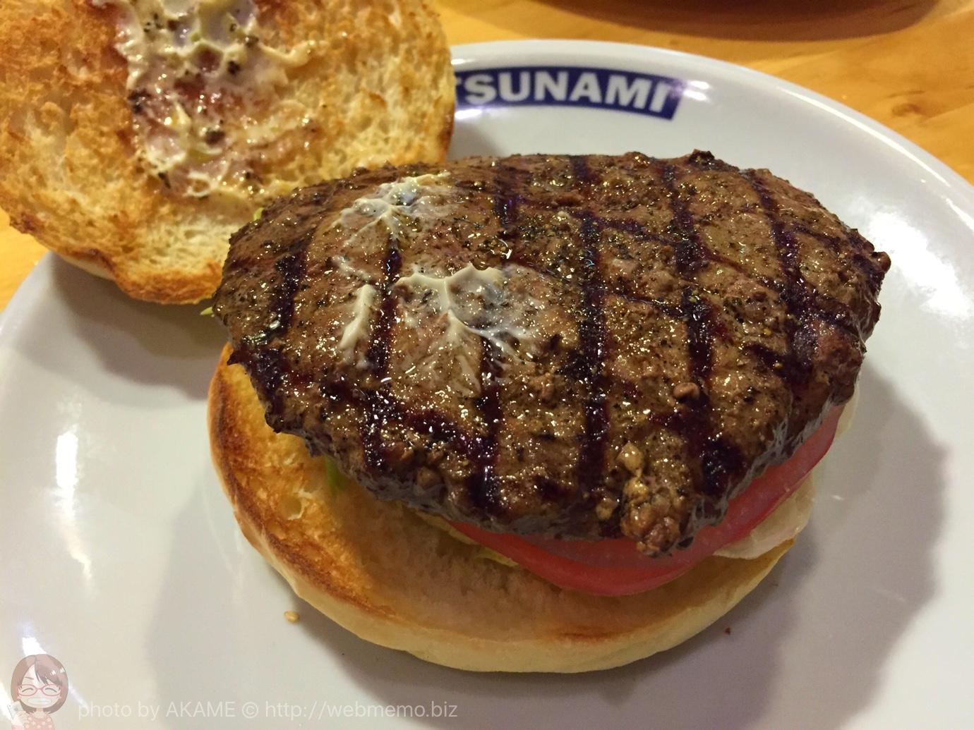 ネイビーバーガー ハンバーグ