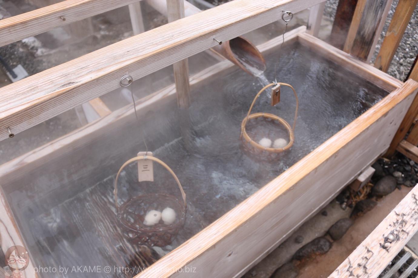 温泉たまご作り
