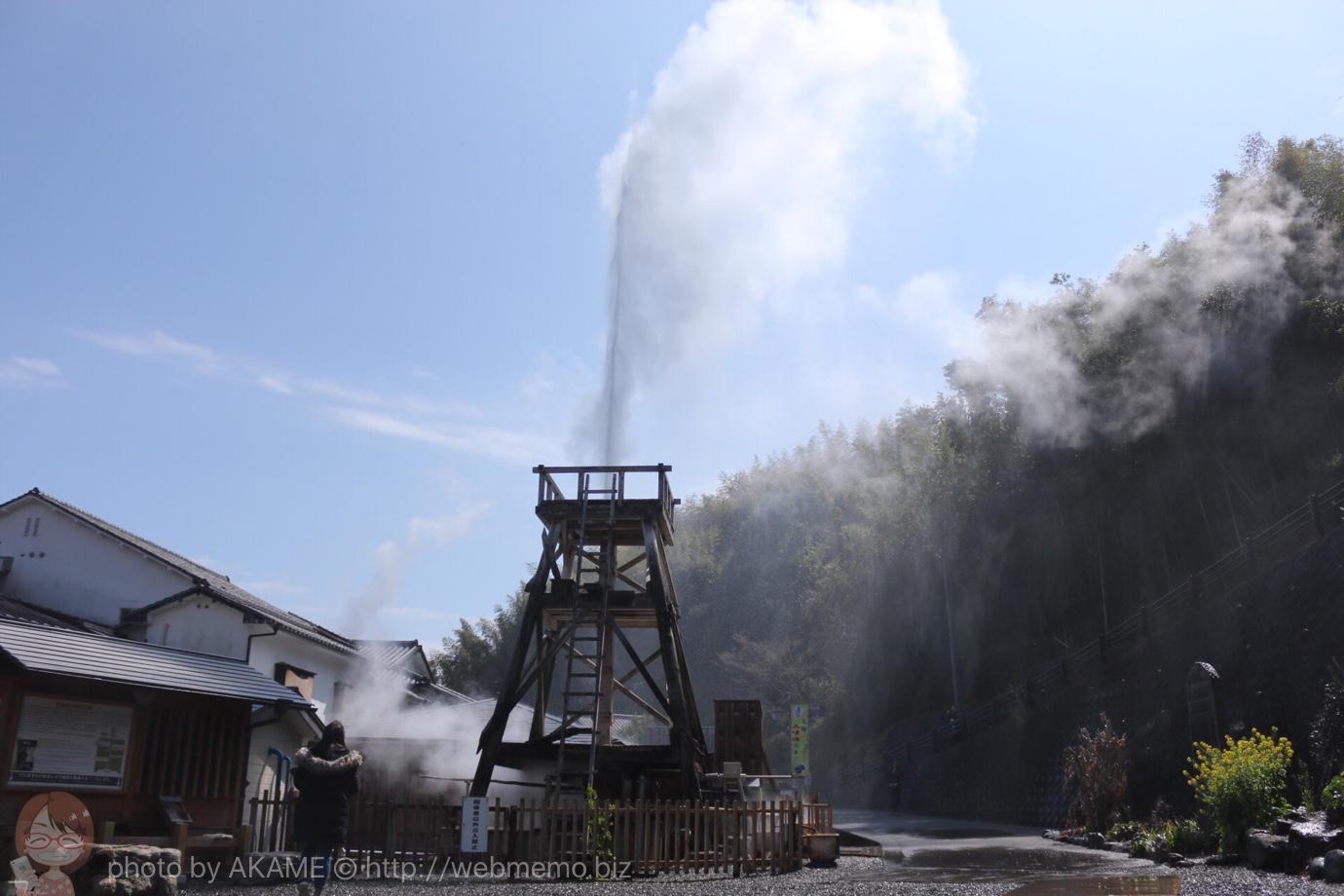 高さ30mの噴き出しの様子