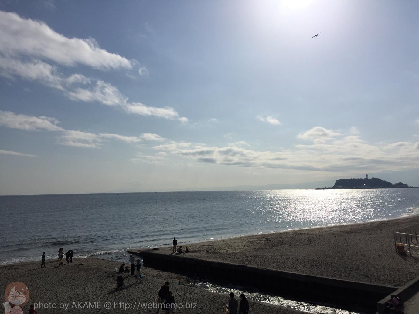 bills 七里ヶ浜店の目の前の海の景色