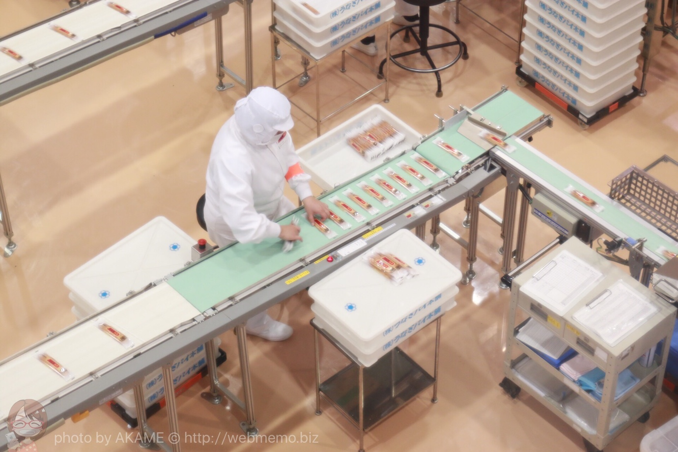 うなぎパイの製造工程
