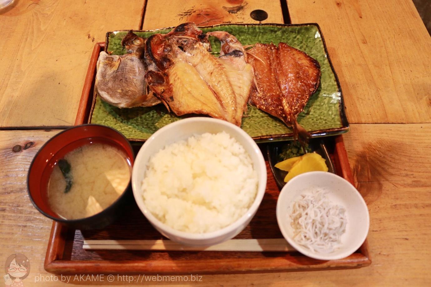 三種干物定食 1,650円