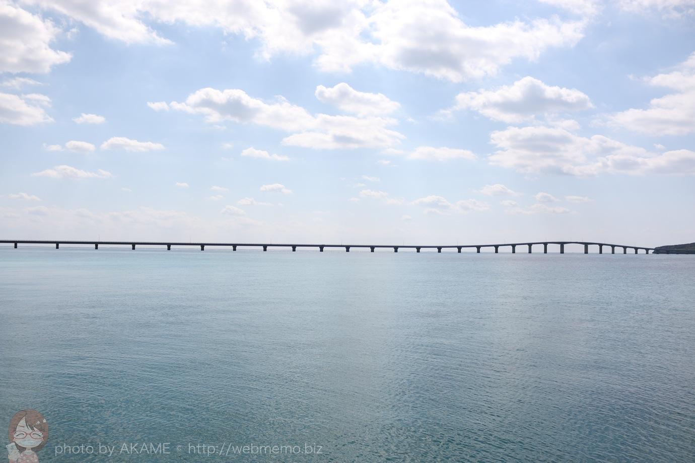 来間前浜ビーチから見える来間大橋