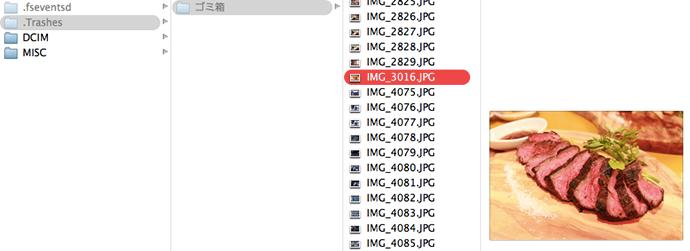 カード内を覗くと「DCIM」と「MISC」のフォルダが2つ