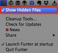show Hidden FilesのON / OFF