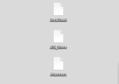デスクトップ上の不可視ファイル