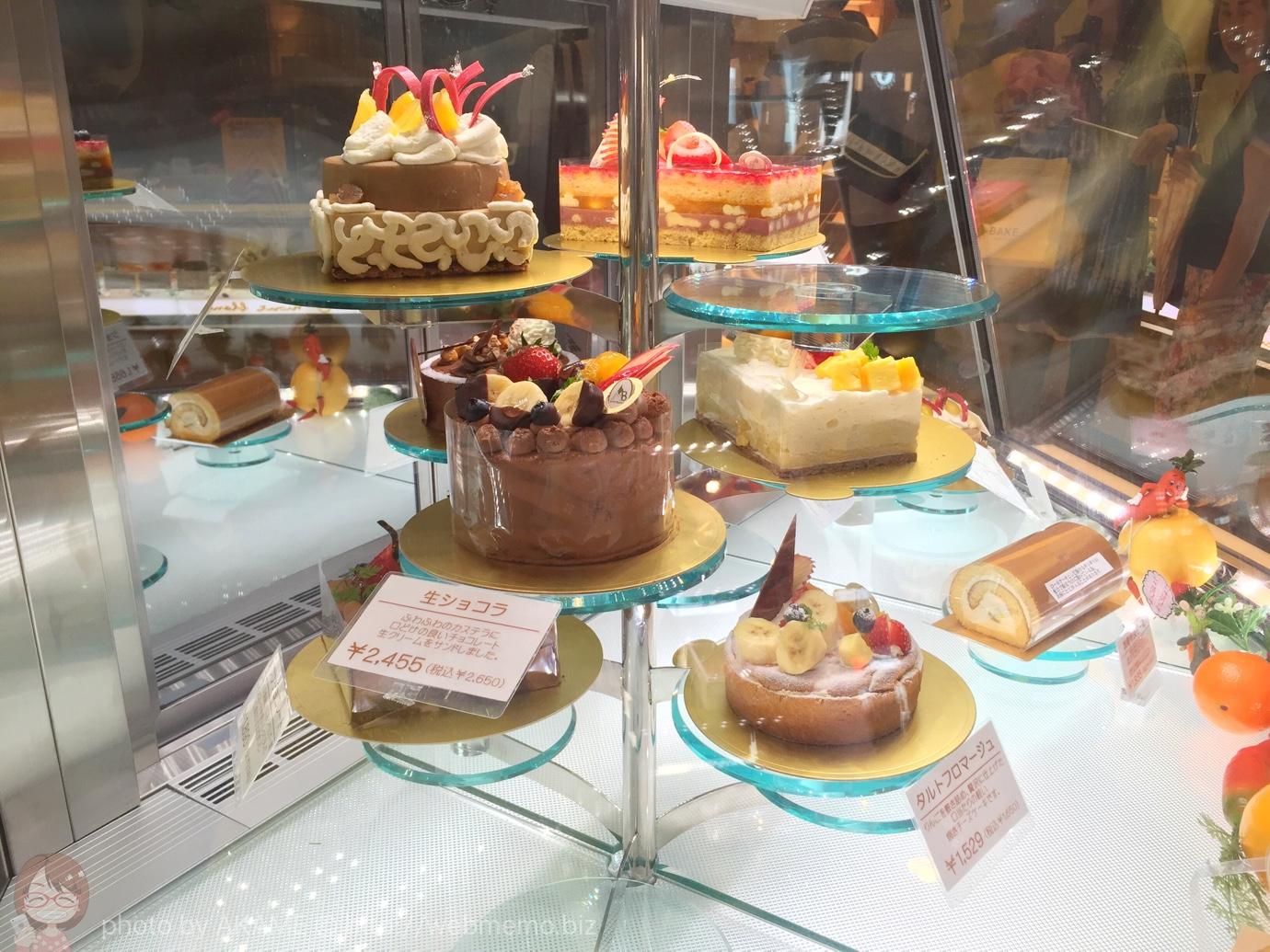モンブラン 店内のケーキ
