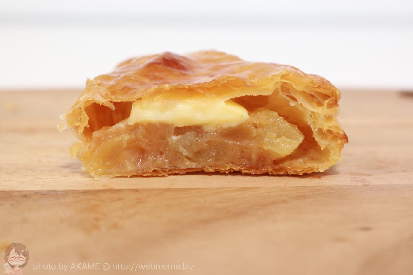 アップルパイの断面