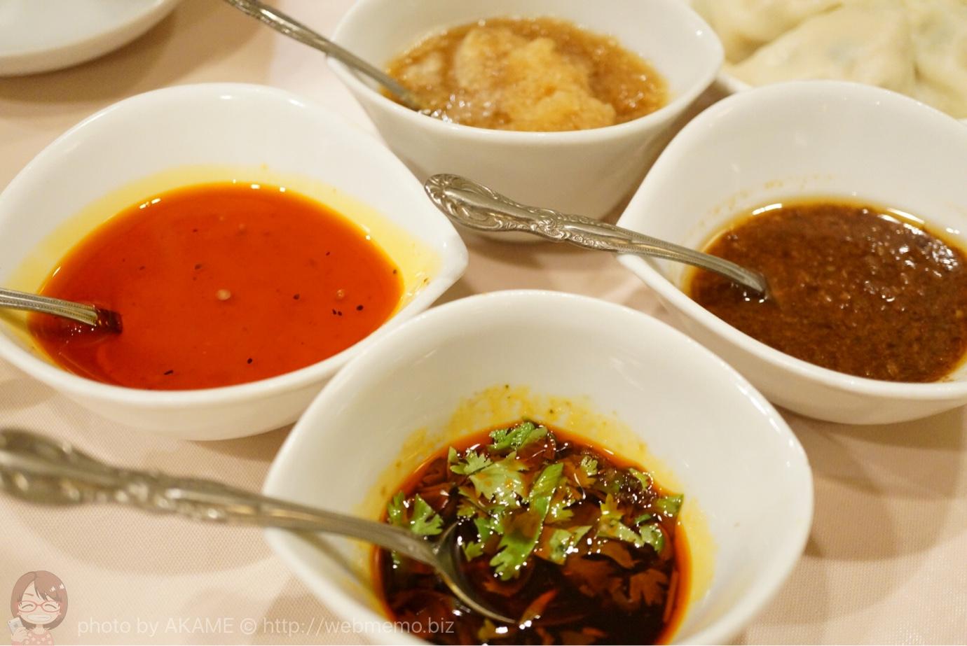 タレは香港式、四川式、山西式、日本式の4種類