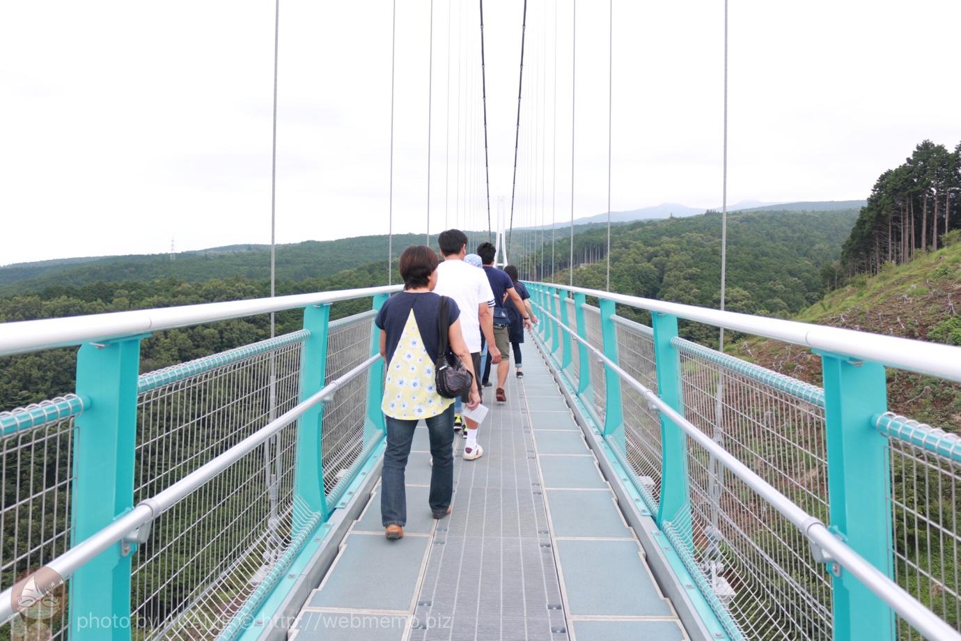 三島スカイウォーク 吊り橋の上