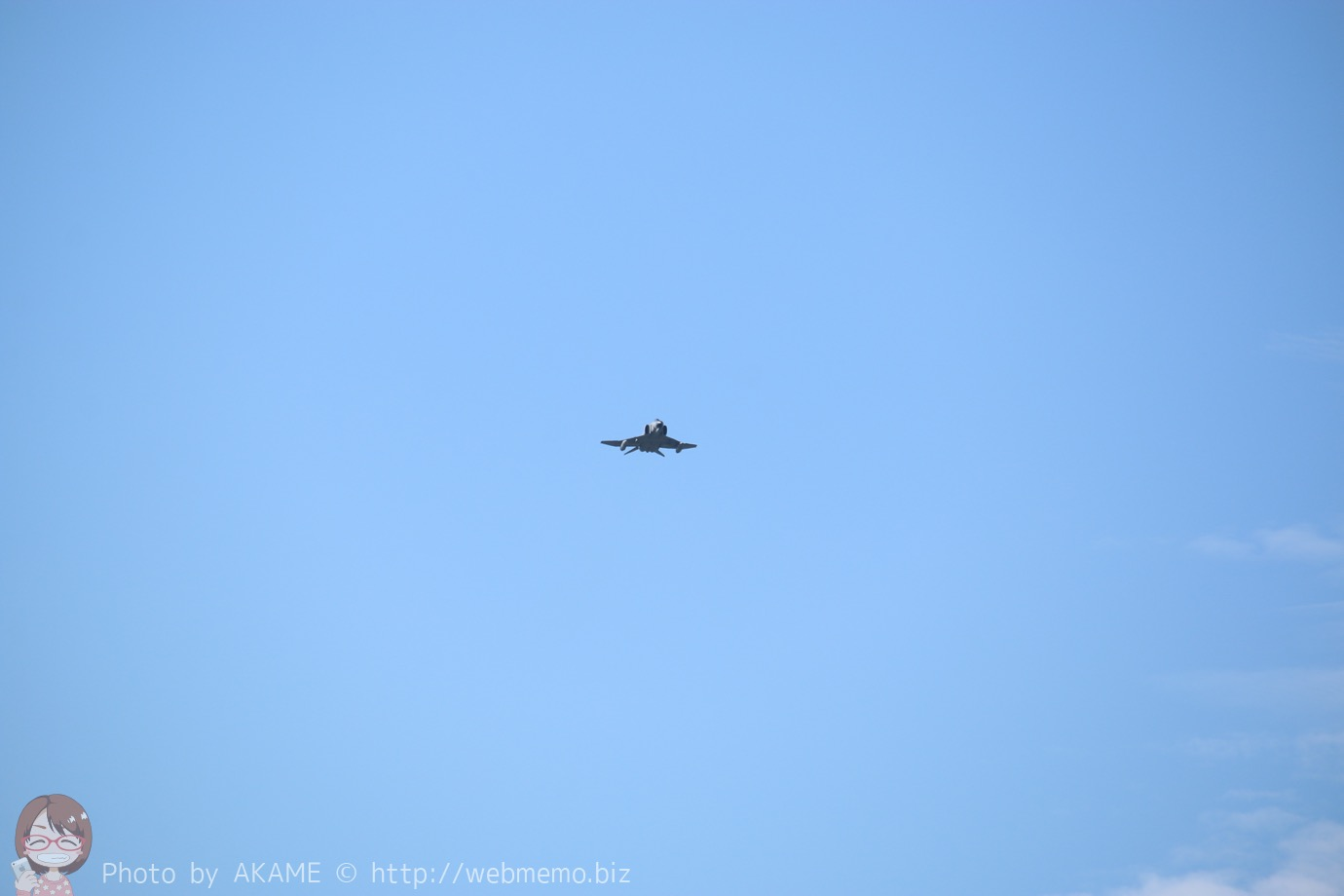 F-4(機動飛行)の展示飛行の様子