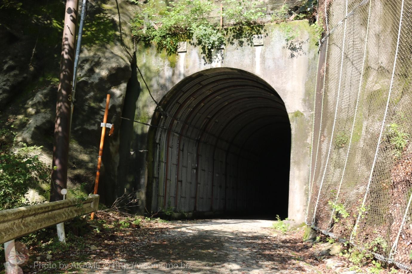ユーシン渓谷 道中で初のトンネル