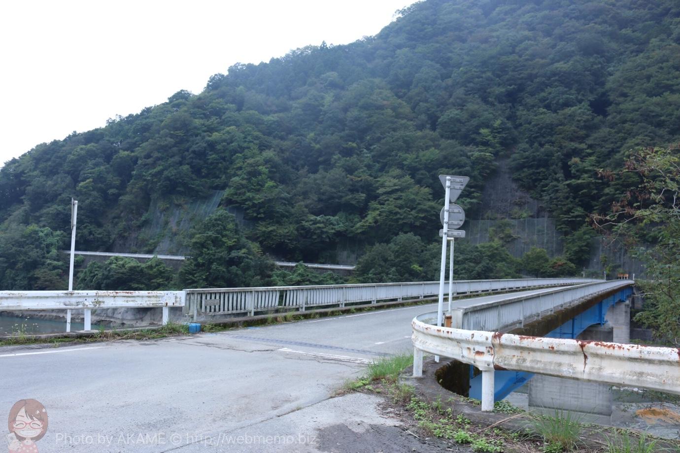 ユーシン渓谷 入り口前の橋