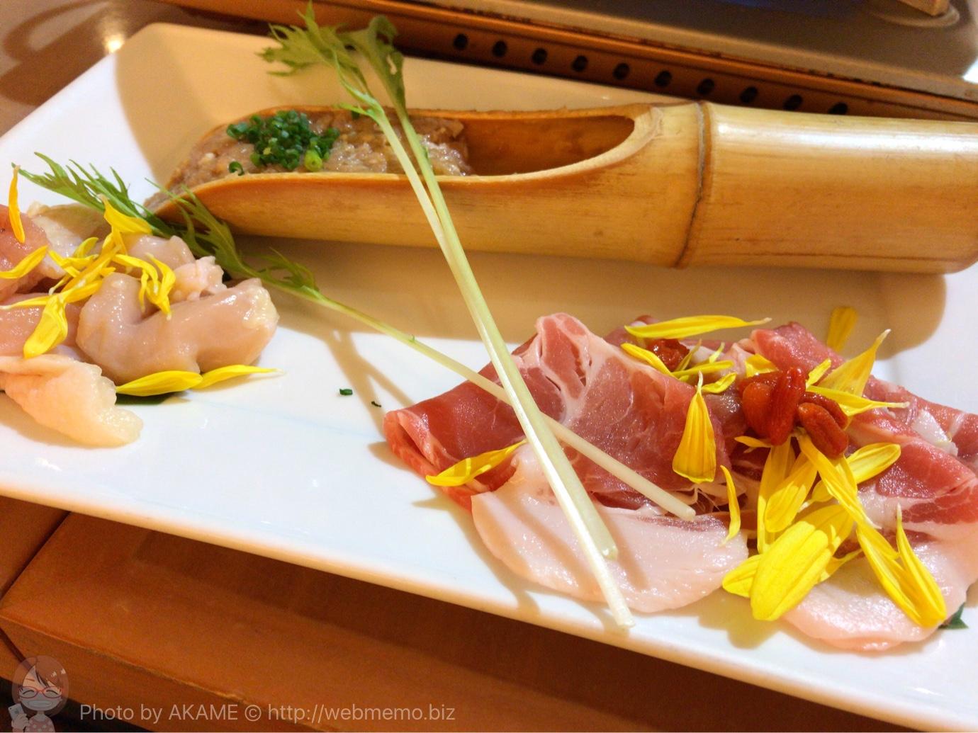 豚肉とシャモ