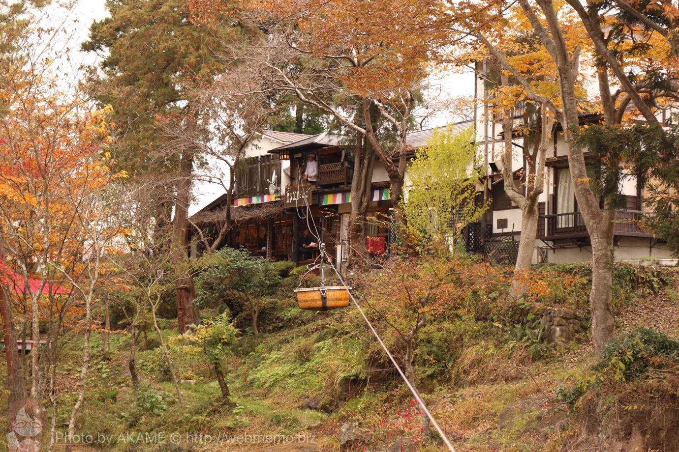 岩手県 厳美渓で空飛ぶ団子を体験!11月中旬は紅葉も見頃