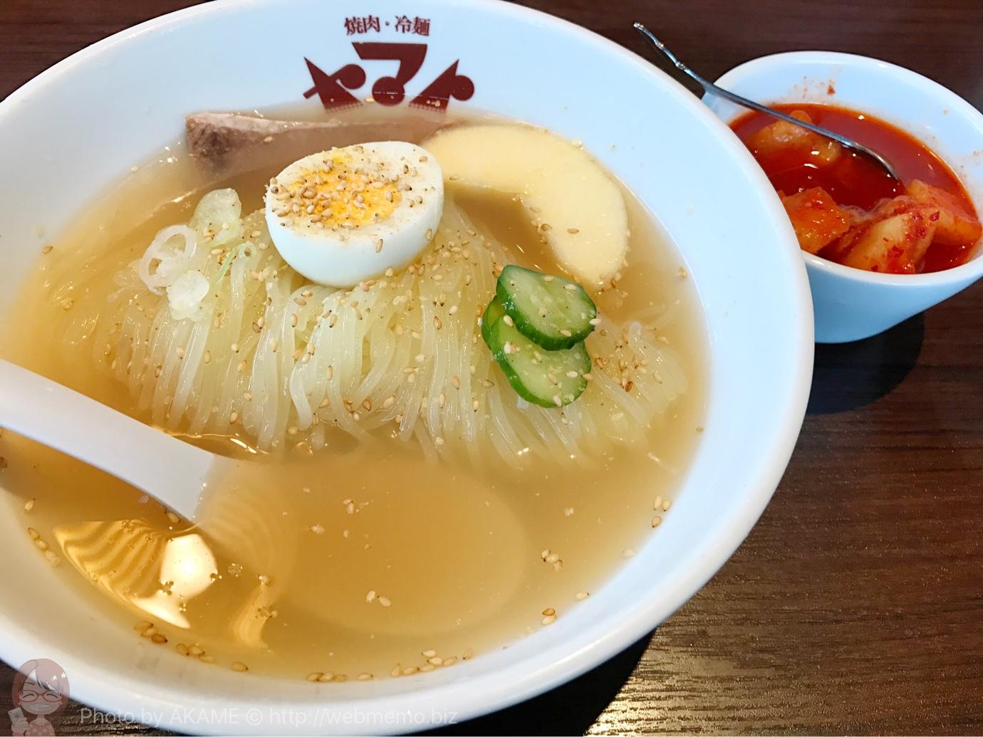 やみつきカルビ冷麺セット(1,000円)