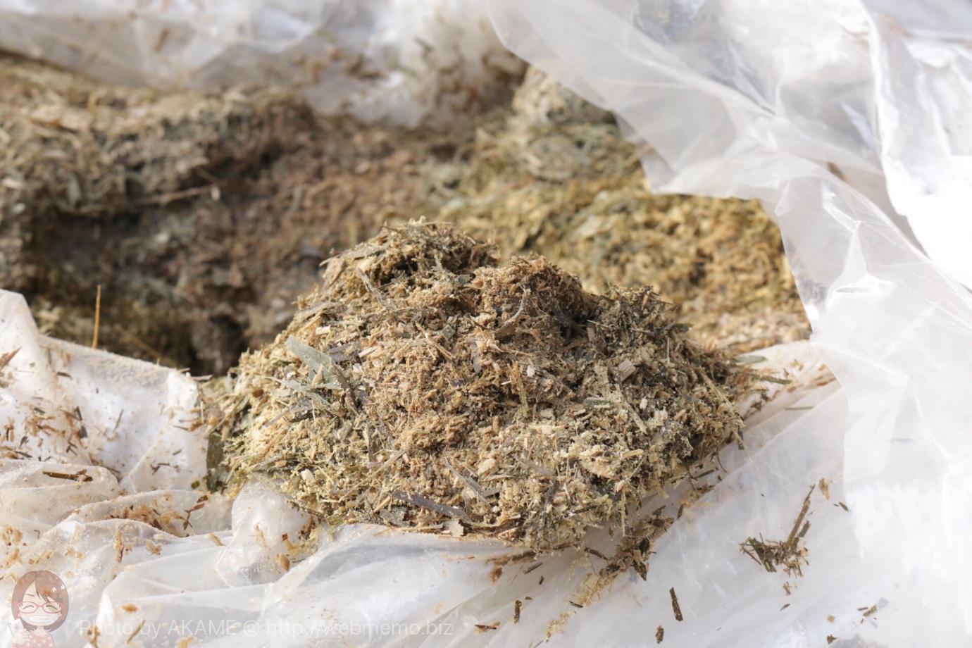 発酵中の堆肥