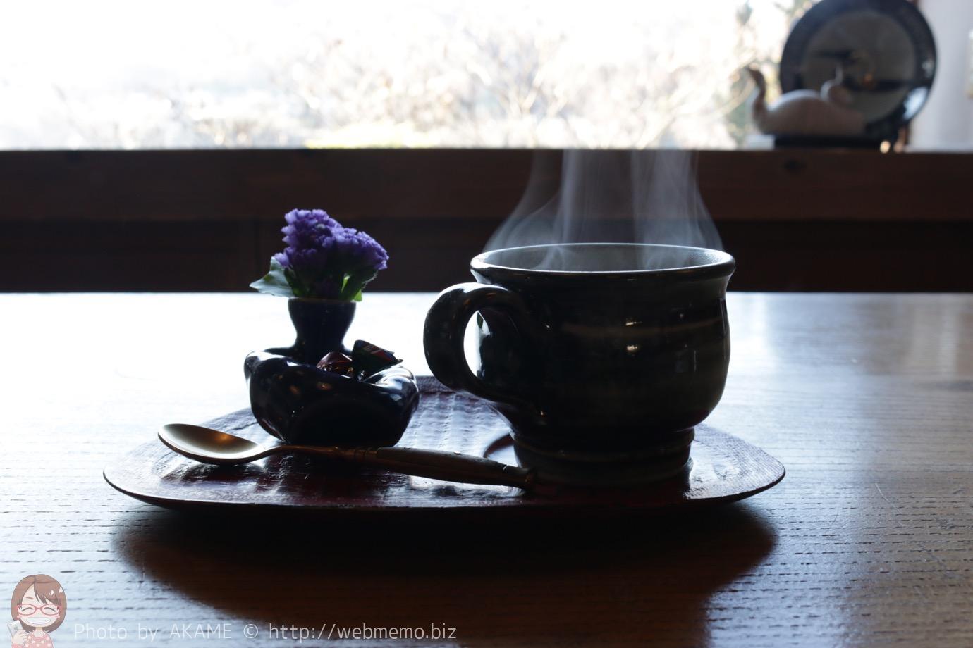 温泉水で作るコーヒー