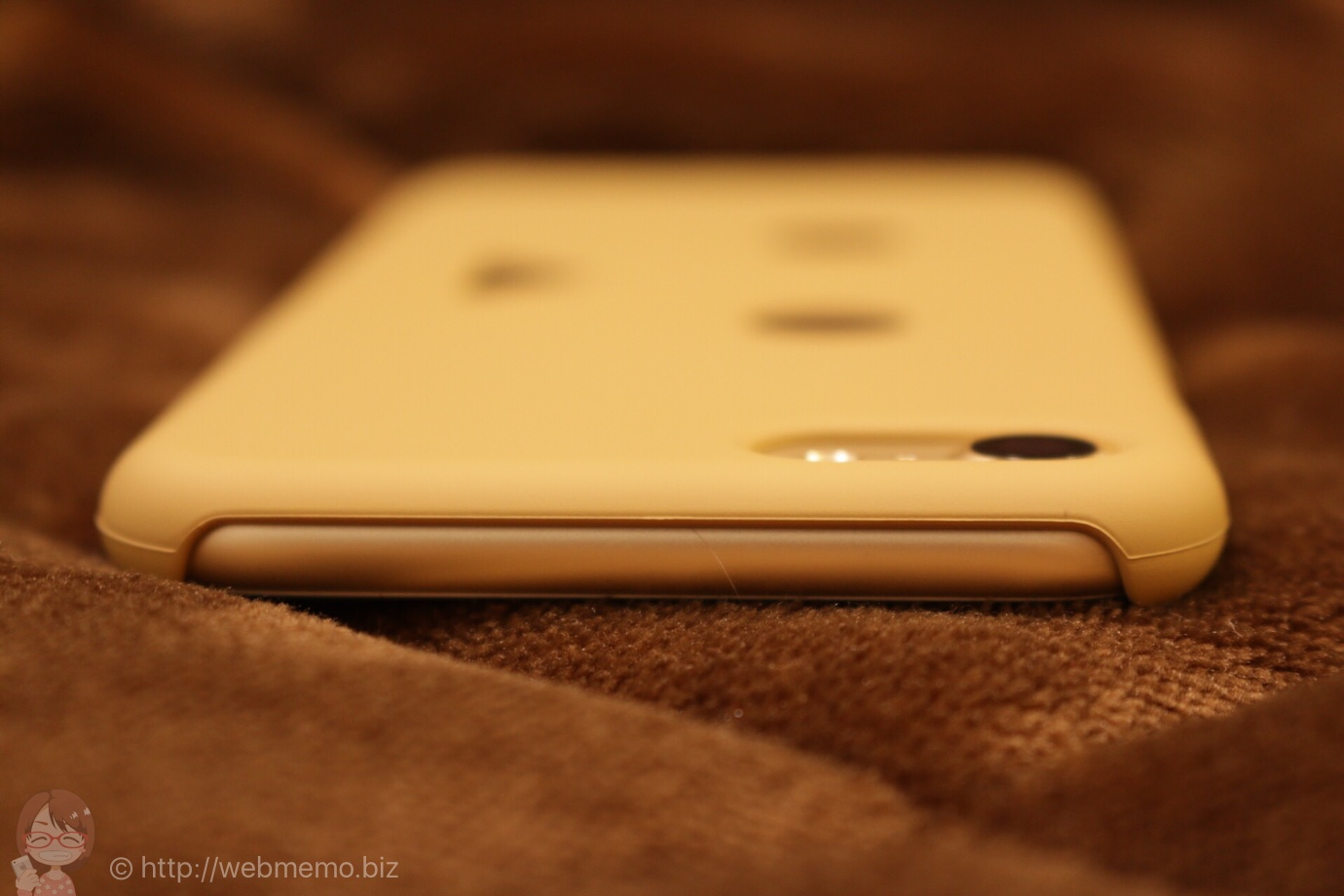 iPhoneを持ったときの上部
