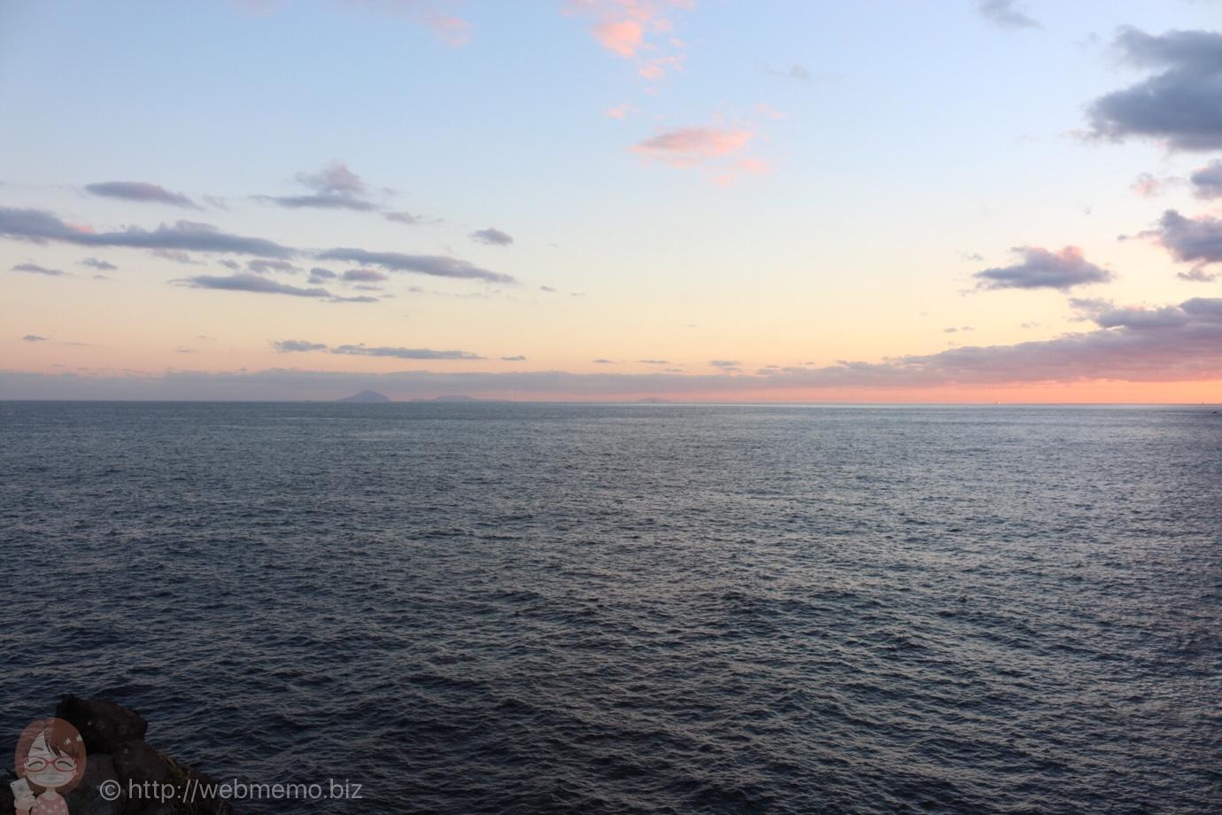 城ヶ崎から見た夕空