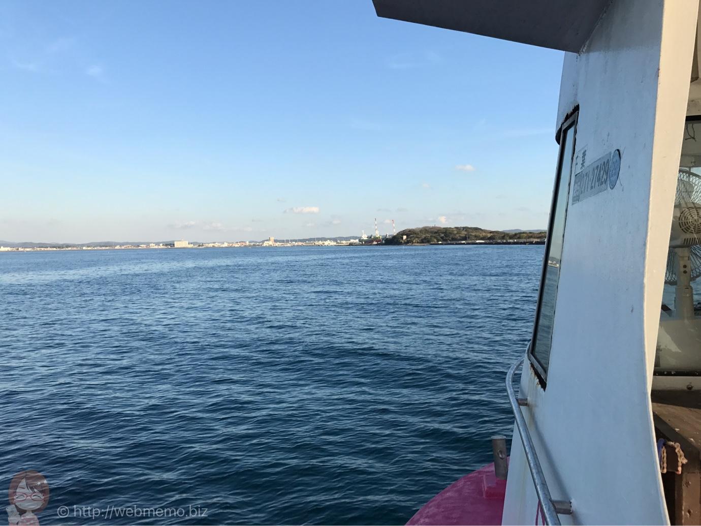 海中観光船 たてやま号 看板からの眺め