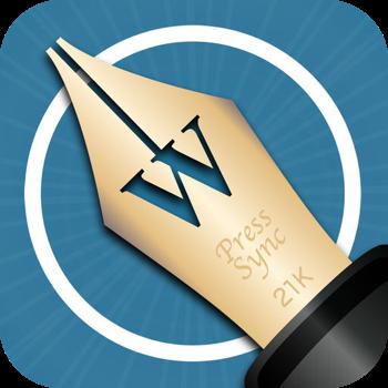 iPhoneアプリ「PressSync」のテキスト選択範囲をフリックで調整できる機能が地味に便利!