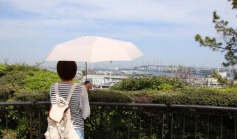 荷物が濡れない軸をずらした新発想な折りたたみ傘「Sharely」が便利!