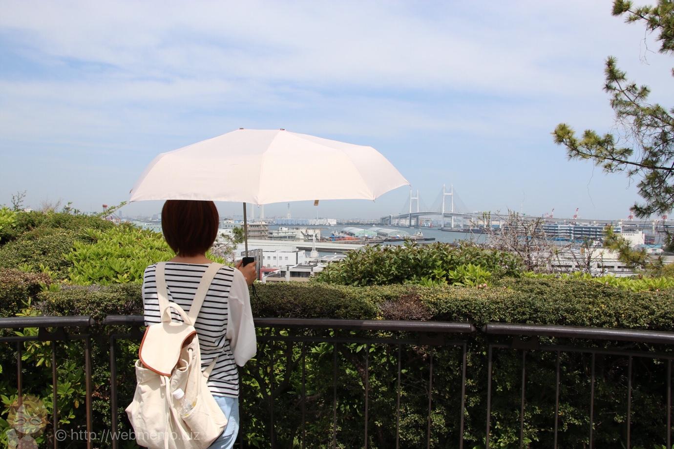 [Å] 荷物濡れを防ぐ!軸をずらした新発想な折りたたみ傘「Sharely」(雨晴兼用)