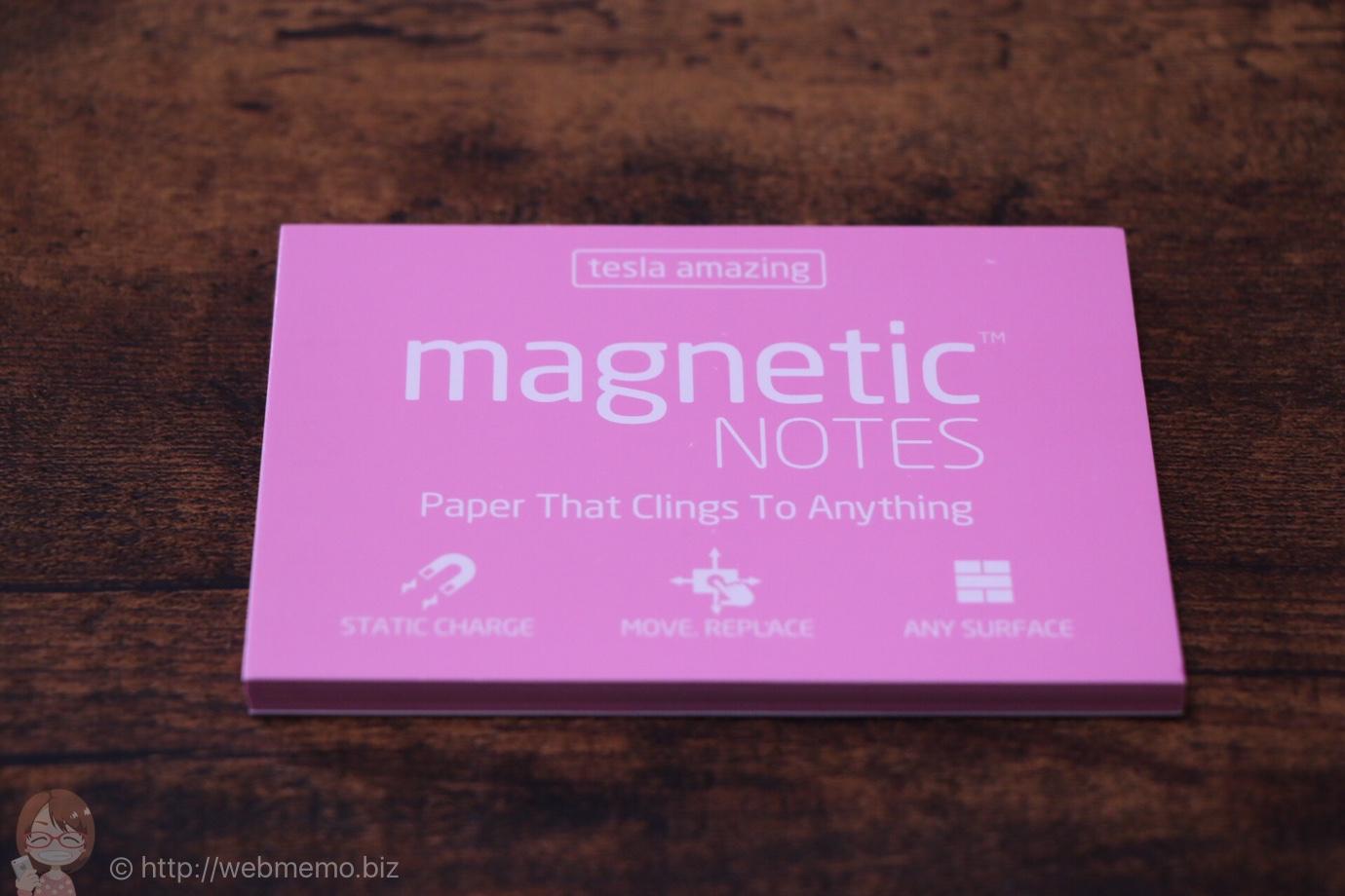 [Å] 粘着剤無いのに貼り付く「magnetic NOTES」が凄すぎる!どこでも貼れる魔法のふせんを初体験