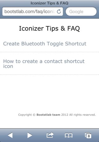 Iconizer Tip & FAQ