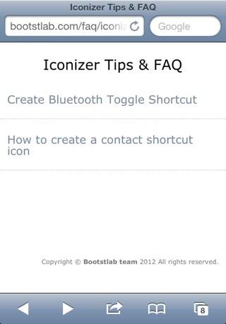 Iconizer Tip & FAQ