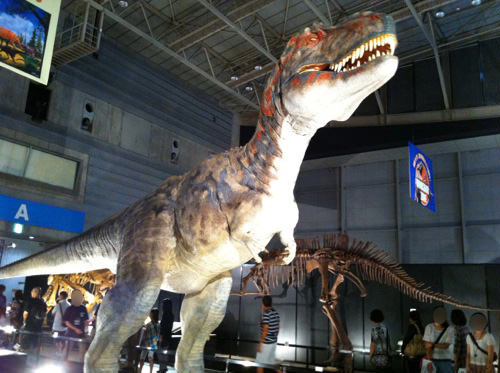 肉付きの恐竜