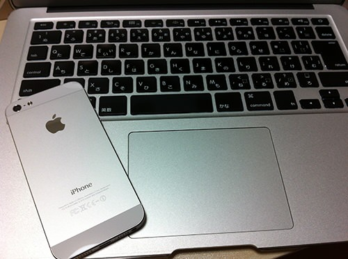 iphone5とMacbook Air