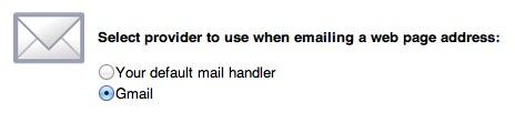 Chromeプラグイン「Email this mail」メール設定画面