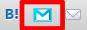 ツールバーにこのような青いメールマークが追加