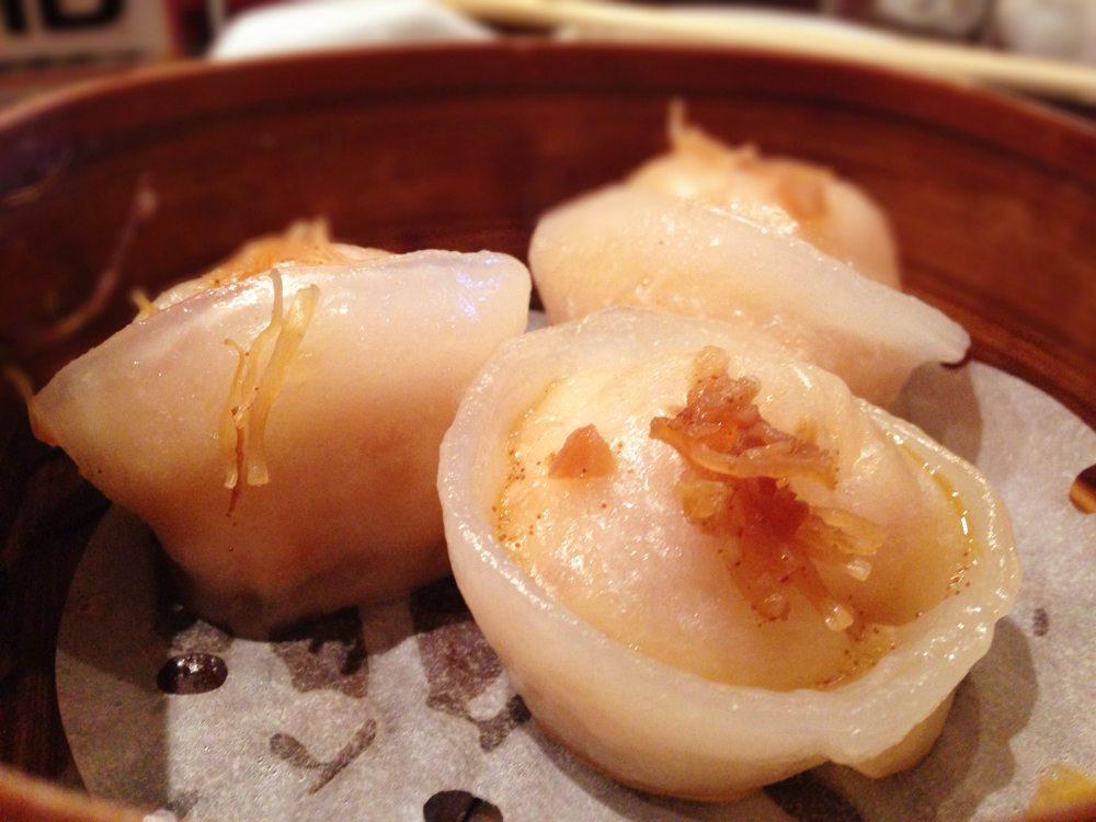 XO醤とホタテ貝入り蒸し餃子