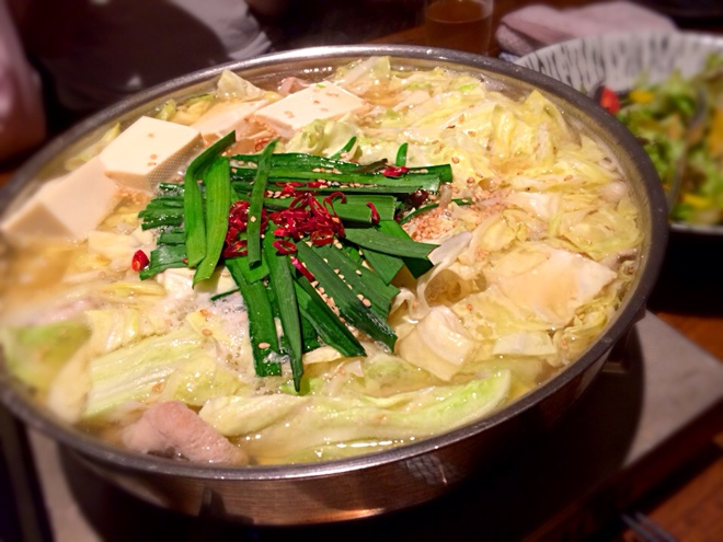 福岡の紅月で本場もつ鍋、美味しいもつ鍋、ぷりぷりもつ鍋いただきました!!