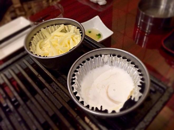 チーズフォンデュとバーニャカウダ