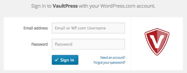 wordpress.comのアカウントでログイン
